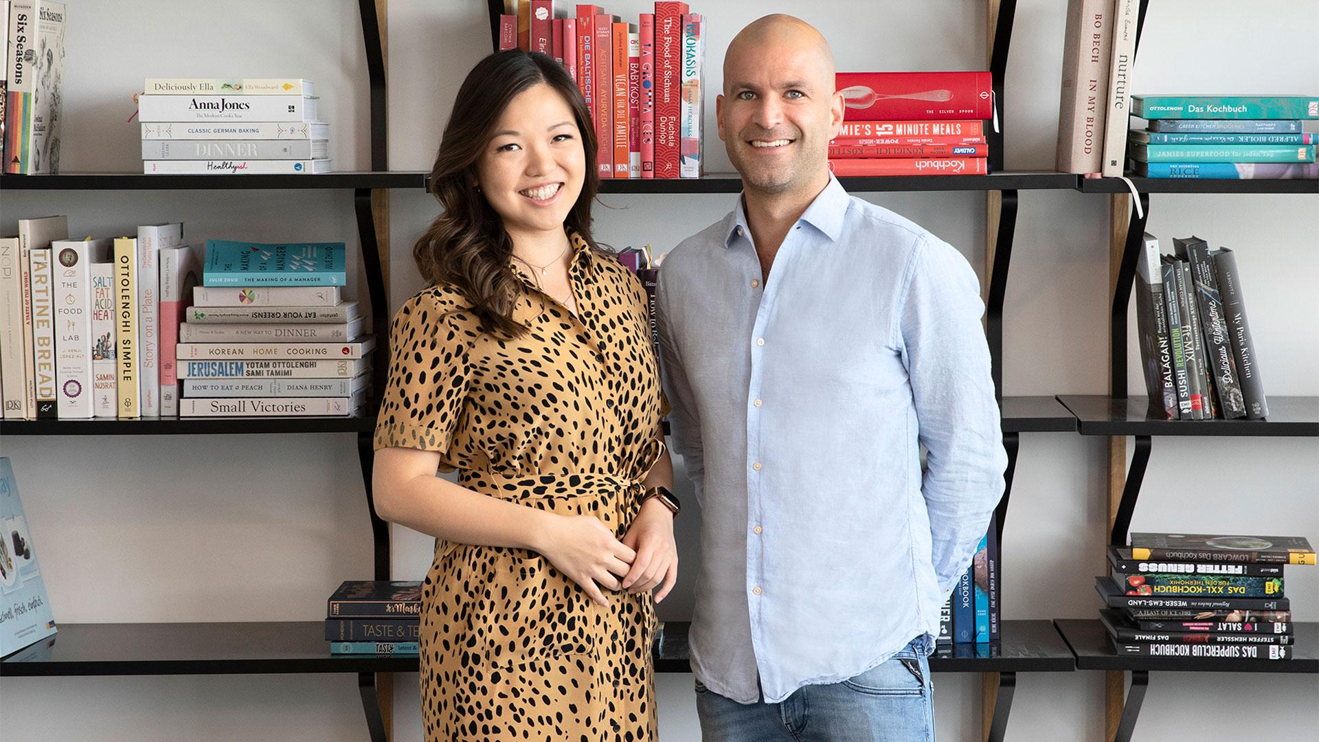 Das Führungsteam von Kitchen Stories: Mengting Gao (CEO & Gründerin) und Alexander Bauer (COO)