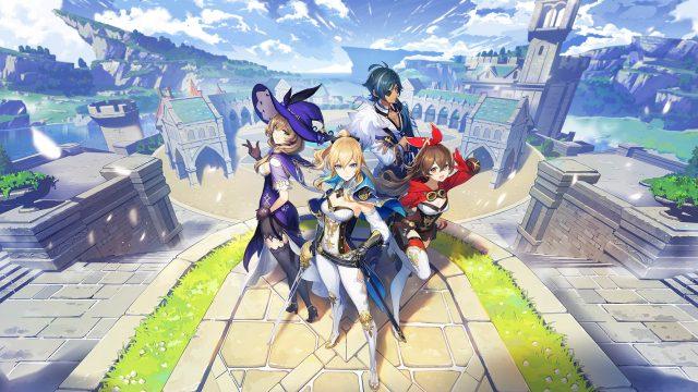 Einige Charaktere aus Genshin Impact