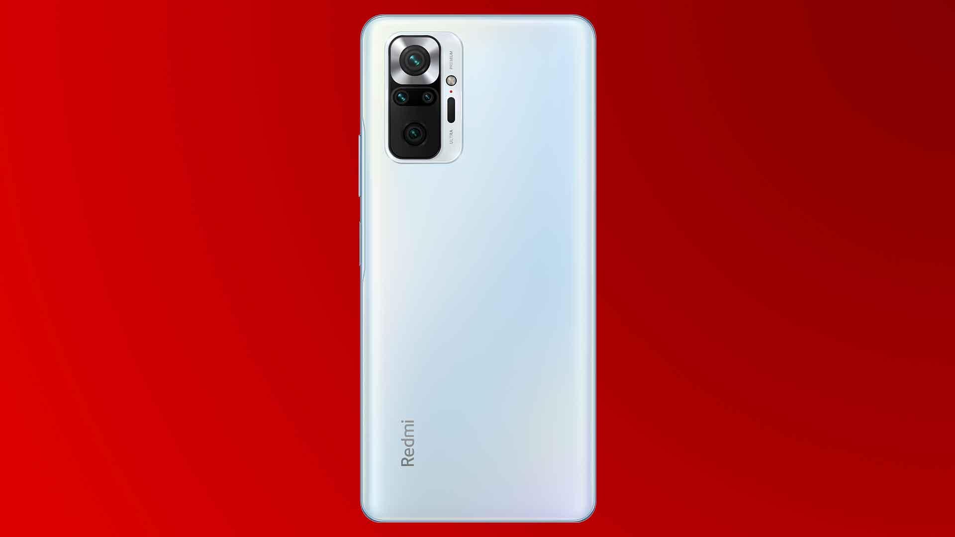 Die Rückseite des Xiaomi Redmi Note 10 Pro mit einer Vierfachkamera.