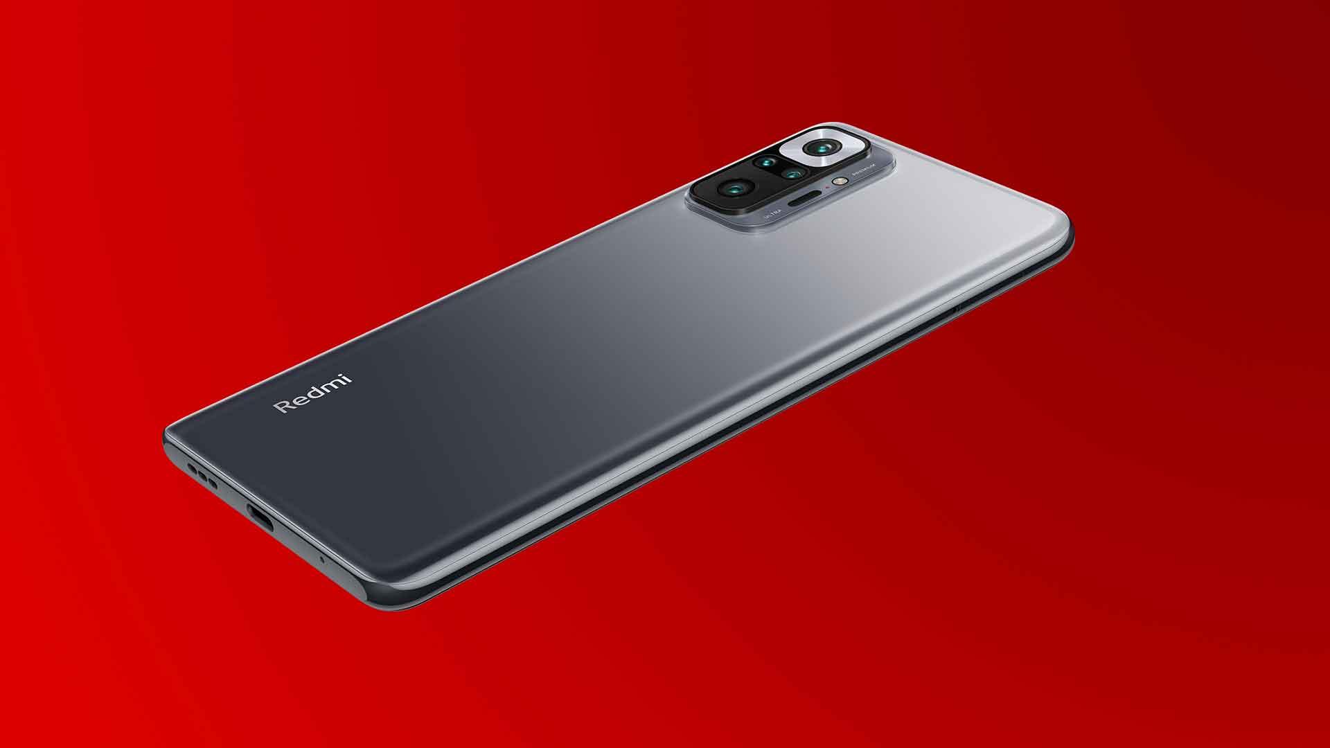Das Xiaomi Redmi Note 10 Pro in Onyx Gray von der Rückseite.