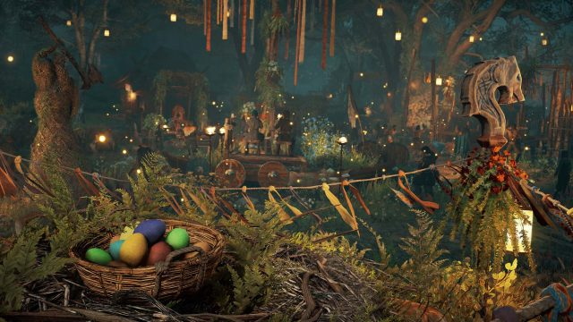 Eierkorb beim Ostara-Fest in Assassin's Creed: Valhalla