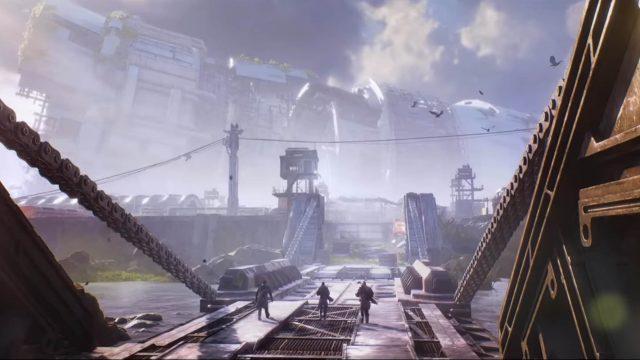 Eine Brücke auf dem Planeten Enoch in Outriders