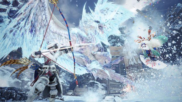 """Game-Szene aus """"Monster Hunter World: Iceborne"""""""
