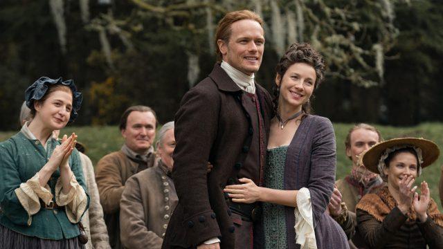 Sam Heughan und Caitriona Balfe in Staffel 5 von Outlander