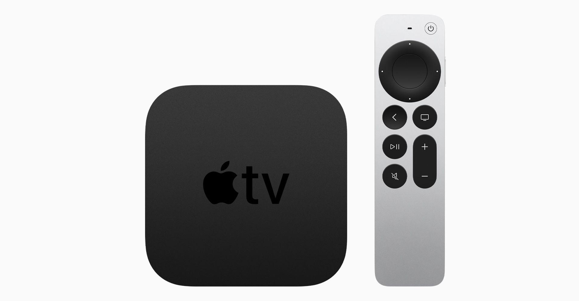 Apple TV 4K mit Siri Remote.