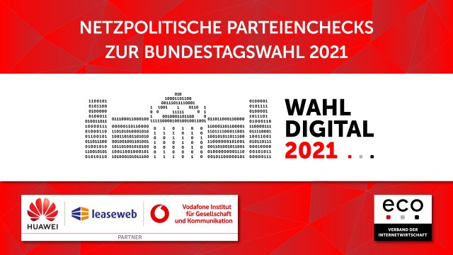 "Die Kampagne ""WahlDigital 2021"" des Internetverbands ""eco"" und Partner."