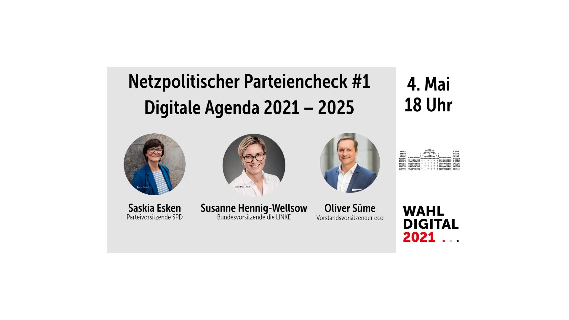 WahlDigital 2021: Netzpolitischer Parteiencheck #1 am 4. Mai