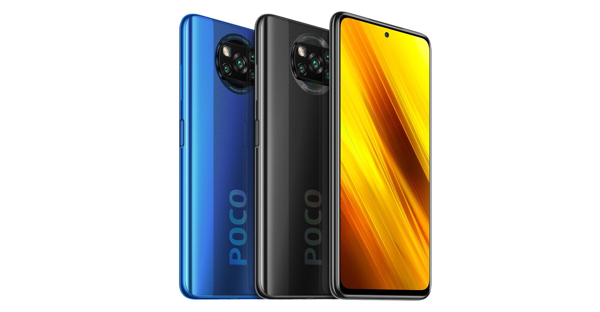 Das Xiaomi Poco X3 NFC in drei Farben