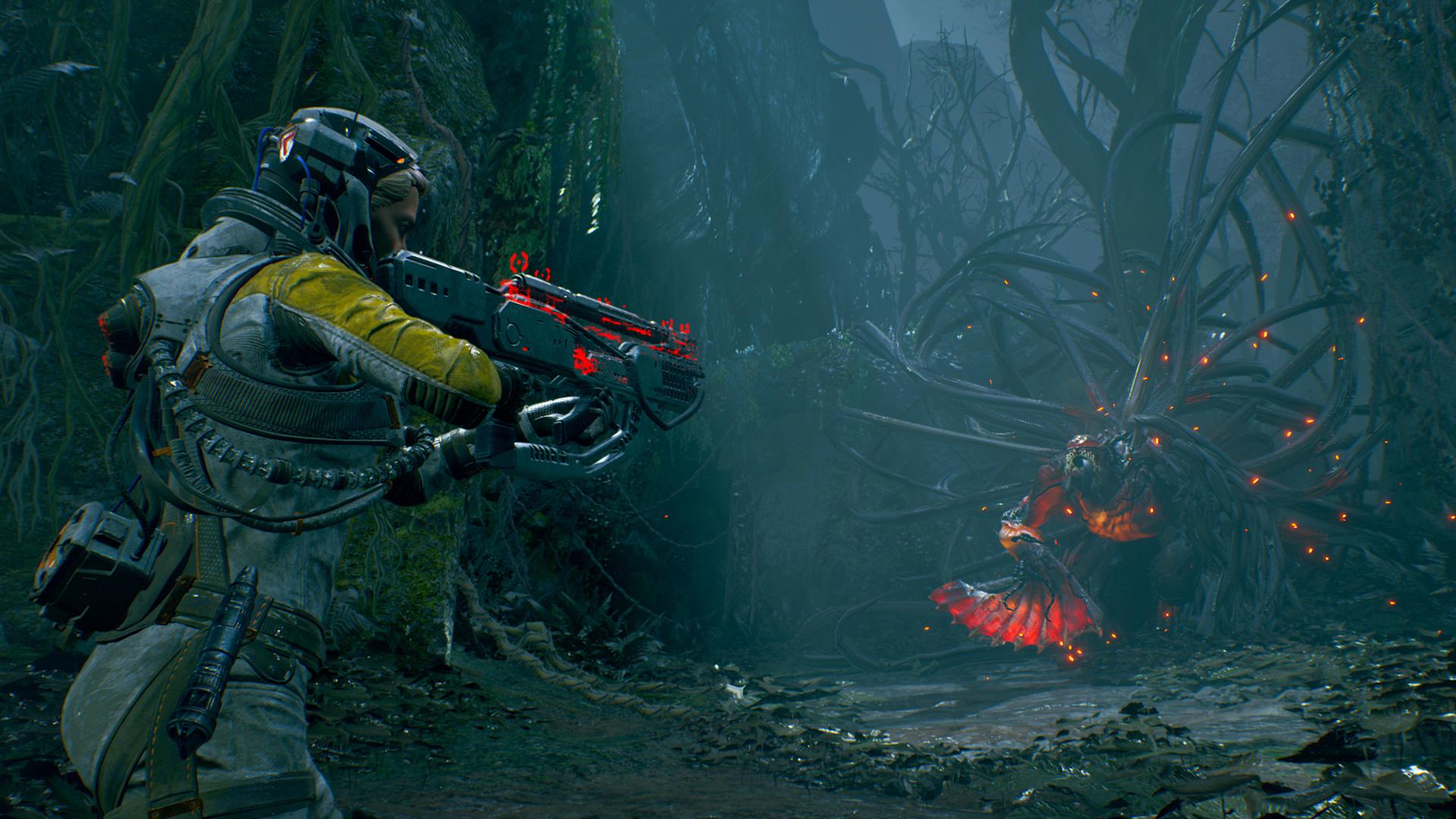Eine Szene aus dem Spiel Returnal