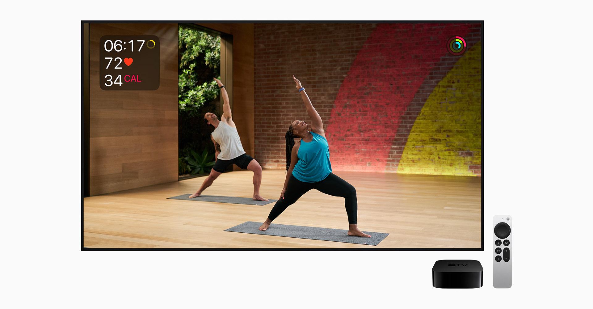 Ftiness-Screen des neuen Apple TV 4K (2021)