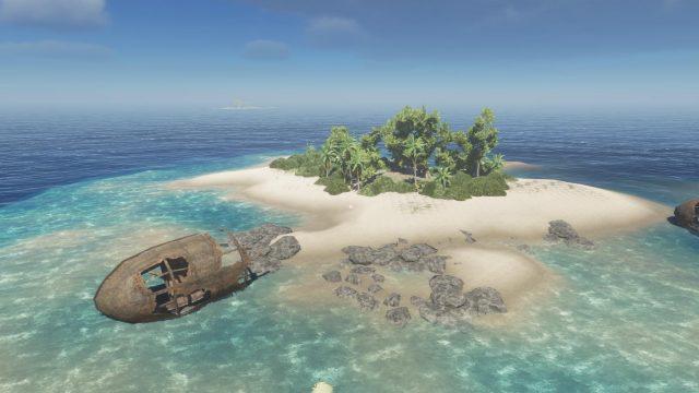 Eine kleine Insel in Stranded Deep