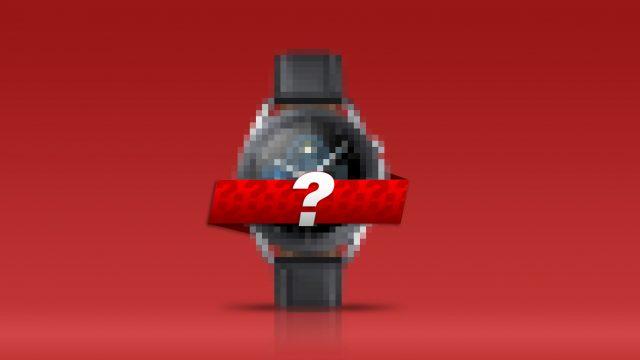 Samsung Galaxy Watch 3, verpixelt und mit Fragezeichen versehen