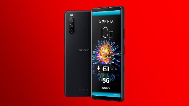 Das neue Sony Xperia 10 III 5G in schwarz von vorne und rückseitig.