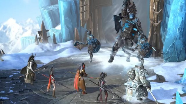 Ein Kampf in RAID: Shadow Legends