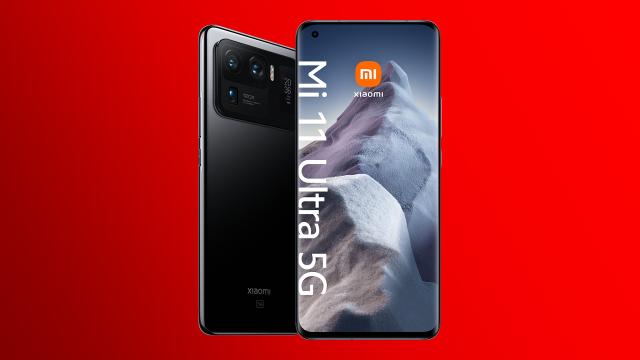 Das neue Xiaomi Mi 11 Ultra 5G in Ceramic Black.
