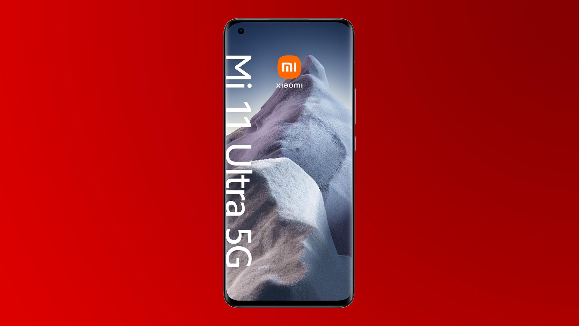 Das Display des neuen Xiaomi Mi 11 Ultra 5G in Ceramic Black.