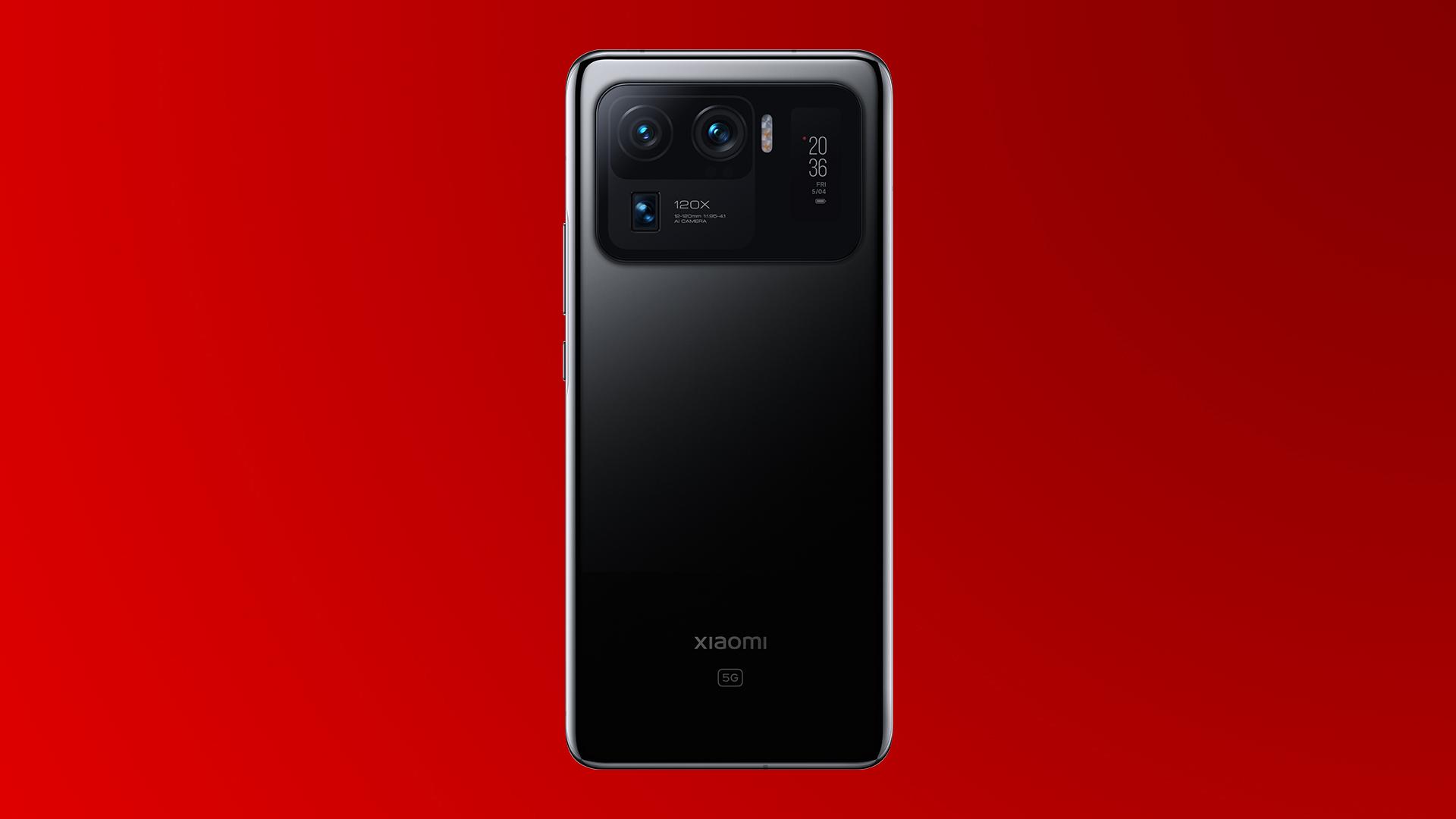 Die drei Kamera-Linsen des neue Xiaomi Mi 11 Ultra 5G in Ceramic Black.