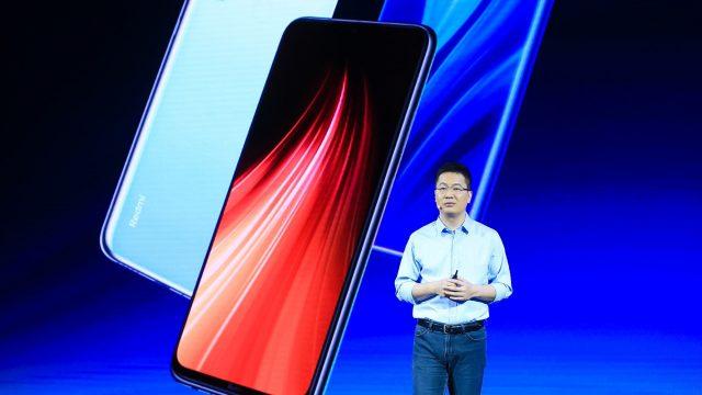 Lu Weibing präsentiert das Redmi Note 8