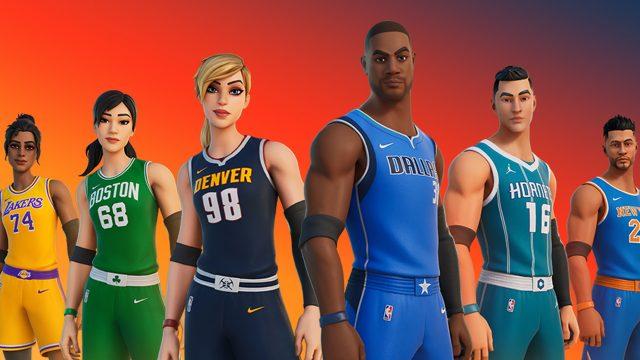 Fortnite x NBA Crossover im Kreativmodus
