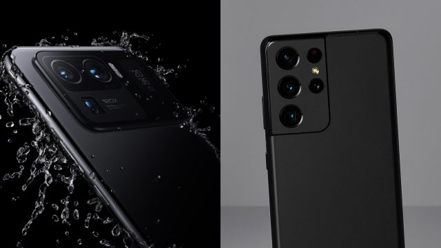 Xiaomi Mi 11 Ultra neben Galaxy S21 Ultra in Schwarz