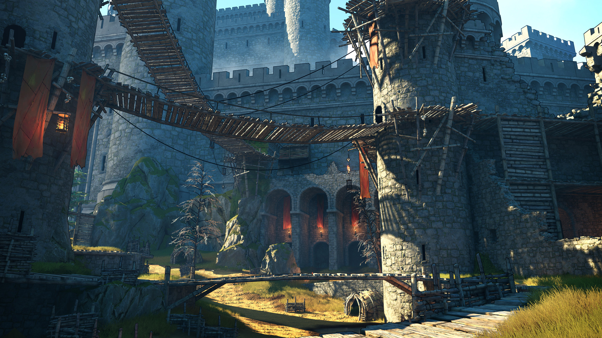 Ein Schloss in einer Fantasywelt