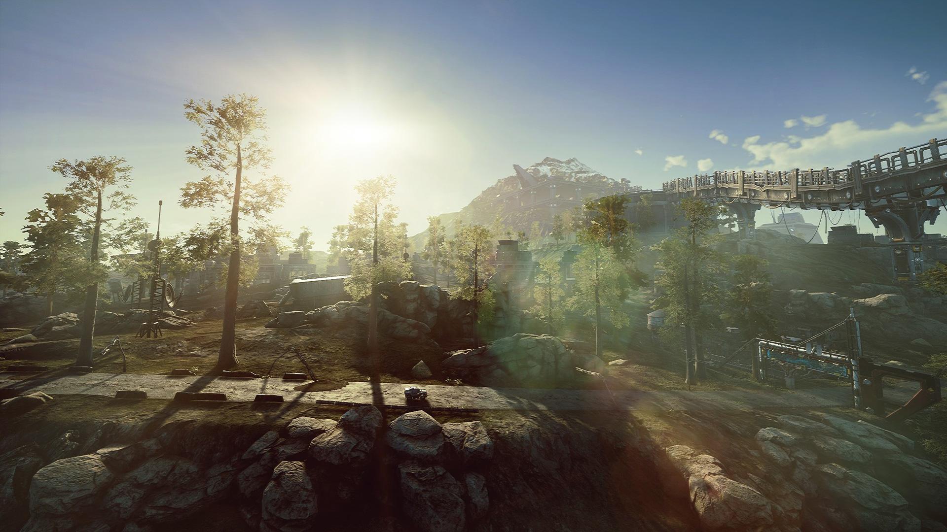 Die Landschaft im Spiel Dysterra