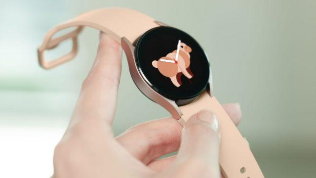 Ziffernblatt an der Galaxy Watch4.