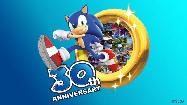 Sonic The Hedgehog springt durch einen goldenen Ring