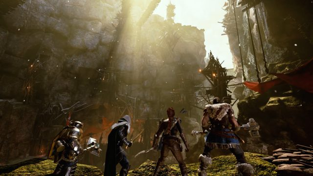 Wulfgar, Drizzt, Bruenor und Catti-brie aus Dungeons & Dragons: Dark Alliance