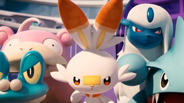 Froxy, Hopplo und Absolut aus Pokémon Unite