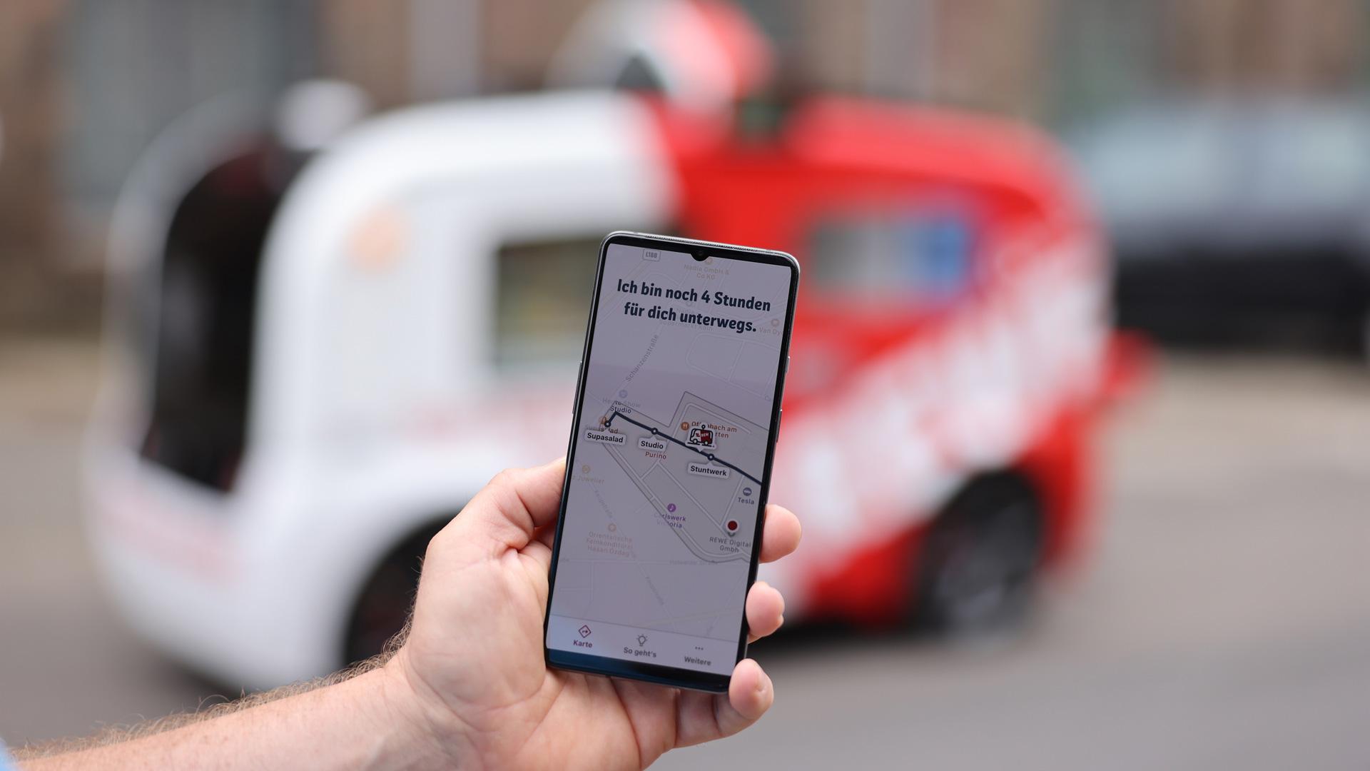 Per App können Nutzer:innen in Kürze prüfen, wo das Snack-Mobil gerade ist
