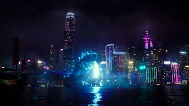 Godzilla greift eine Stadt an