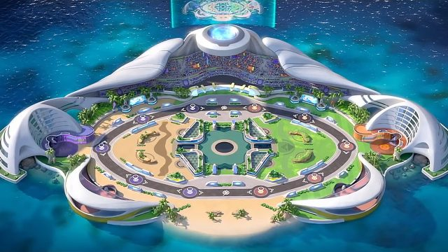Das Stadion in Pokémon Unite