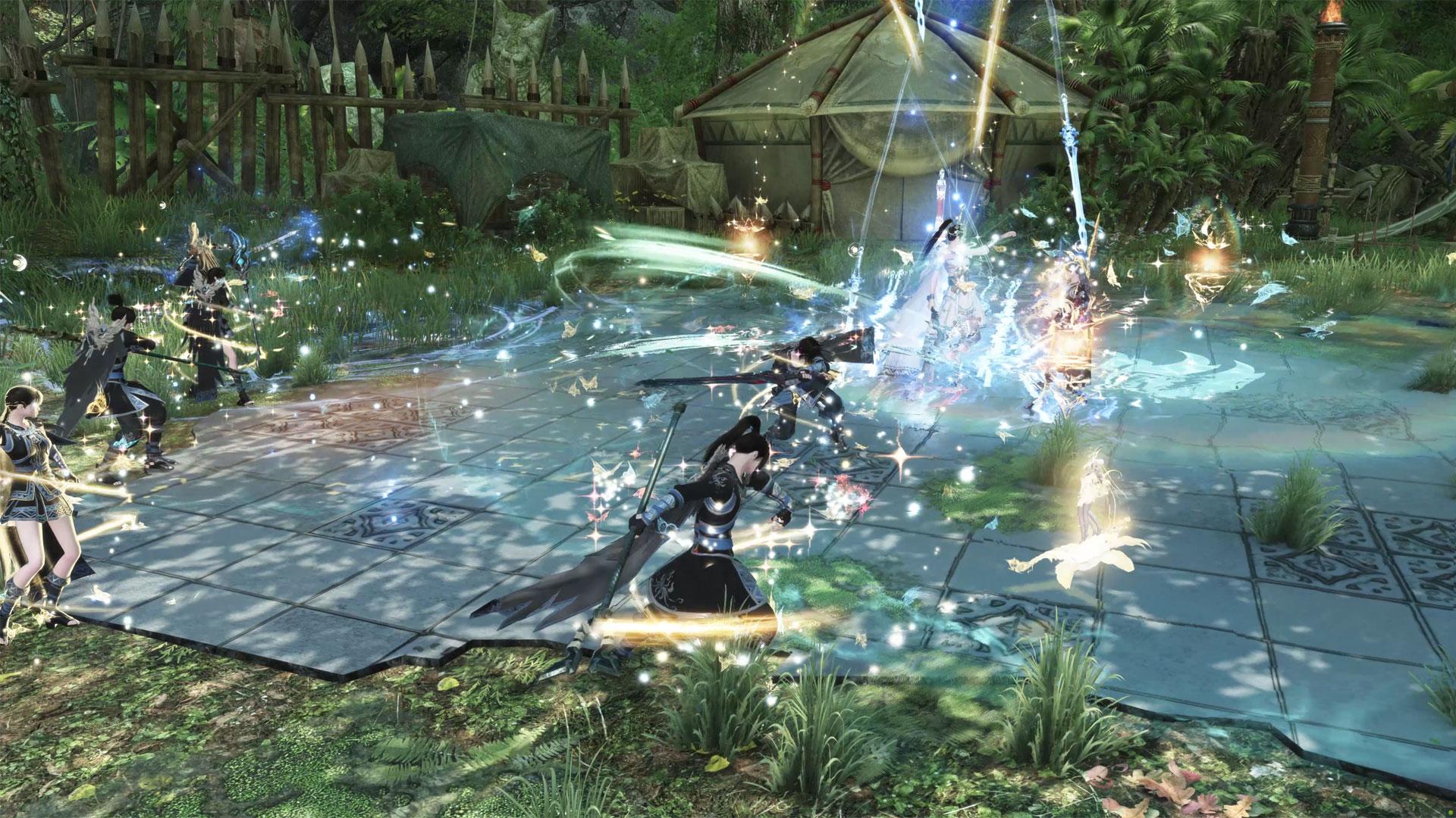 Ein Kampf im Spiel Swords of Legends Online