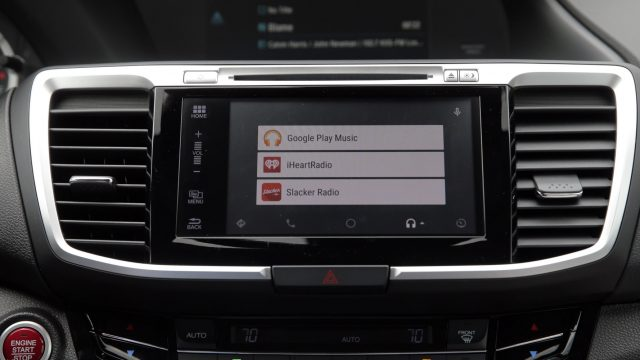 Android Auto auf dem Display eines Hondas