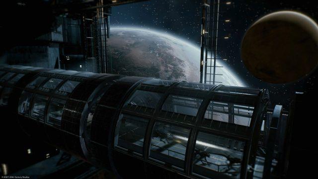 Aliens laufen über die Brücke einer Orbit-Station im Spiel Aliens Fireteam Elite