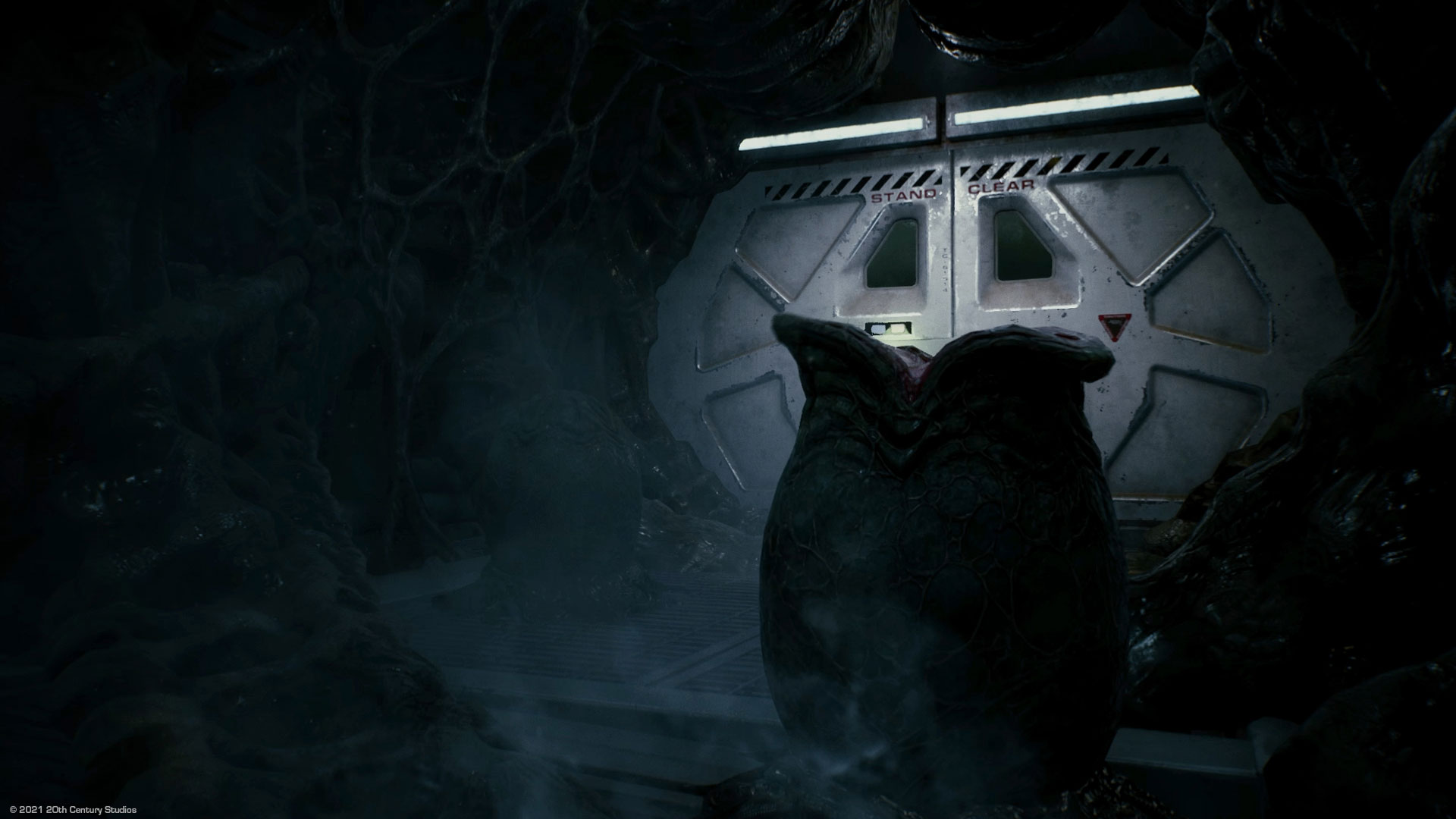 Ein Alien-Ei in einem Raumschiff aus dem Spiel Alien Fireteam Elite