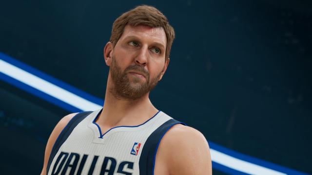 Dirk Nowitzki im Spiel NBA 2K22
