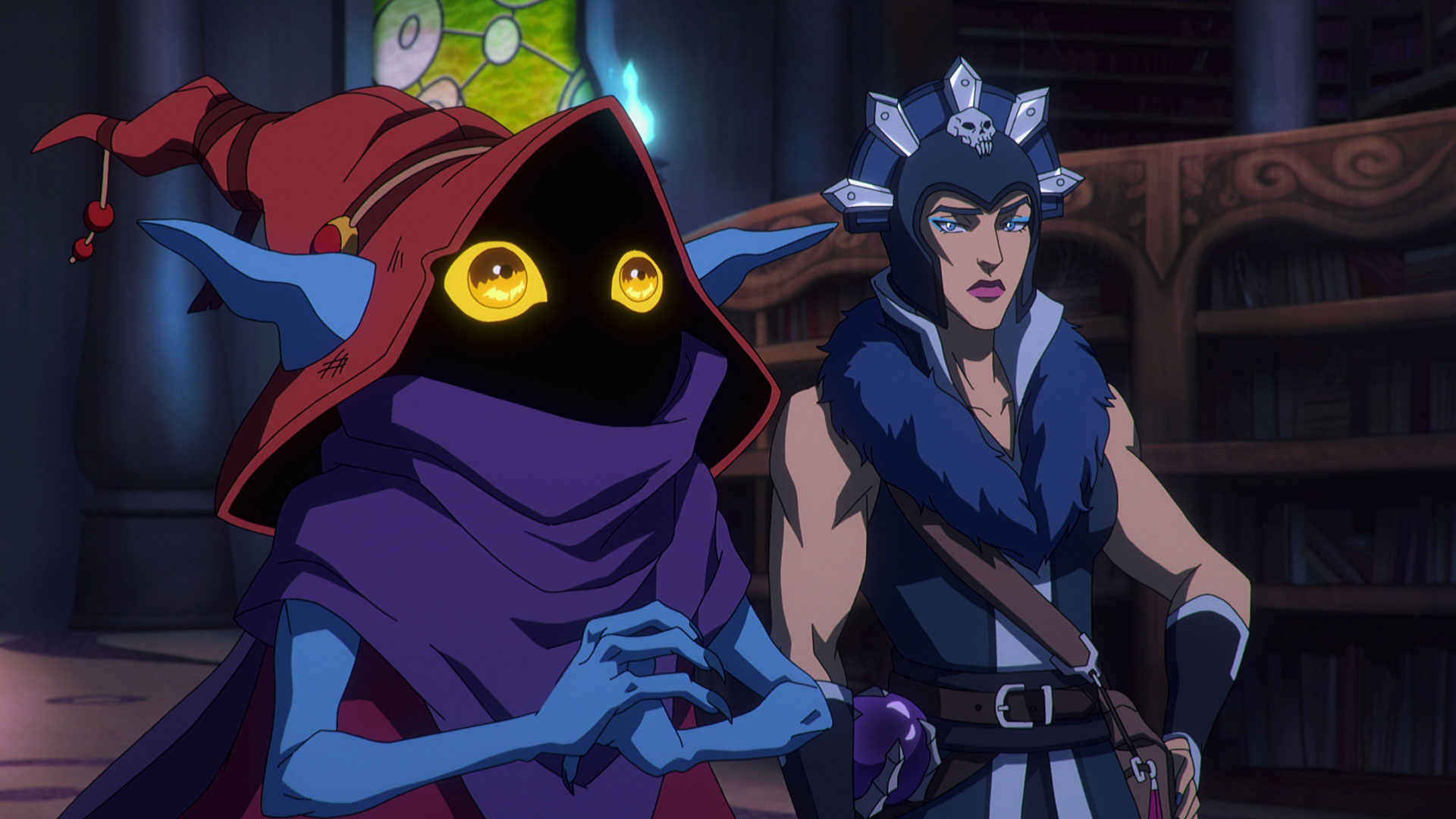 Orko und Evil-Lyn in der Animationsserie Masters of the Universe: Revelation