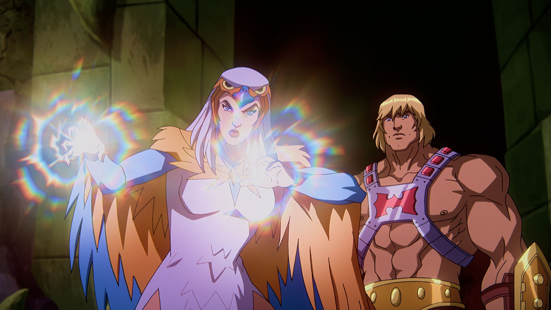 Sorceress und He-Man in der Serie Masters of the Universe: Revelation