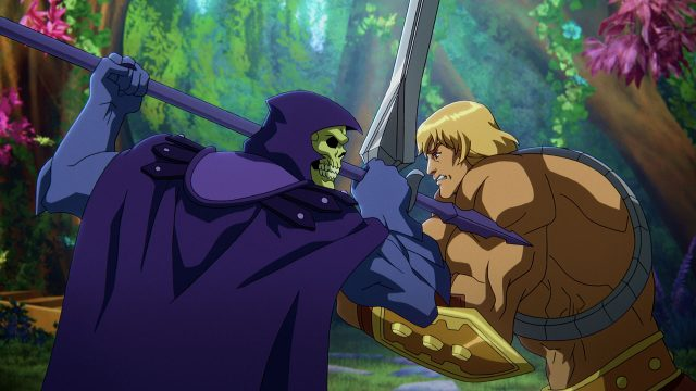 He-Man im Kampf gegen Skeletor