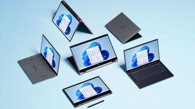 Das kommende Betriebssystem Windows 11 ist auf einem Foldable Laptop zu sehen.