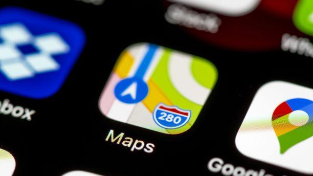 Das Icon von Apple Karten auf einem iPhone