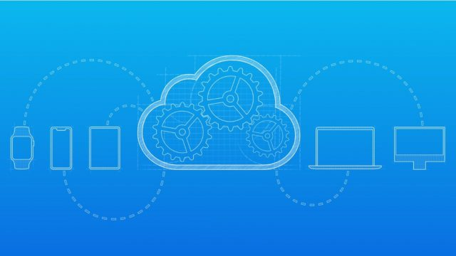 Grafische Darstellung der iCloud-Funktion