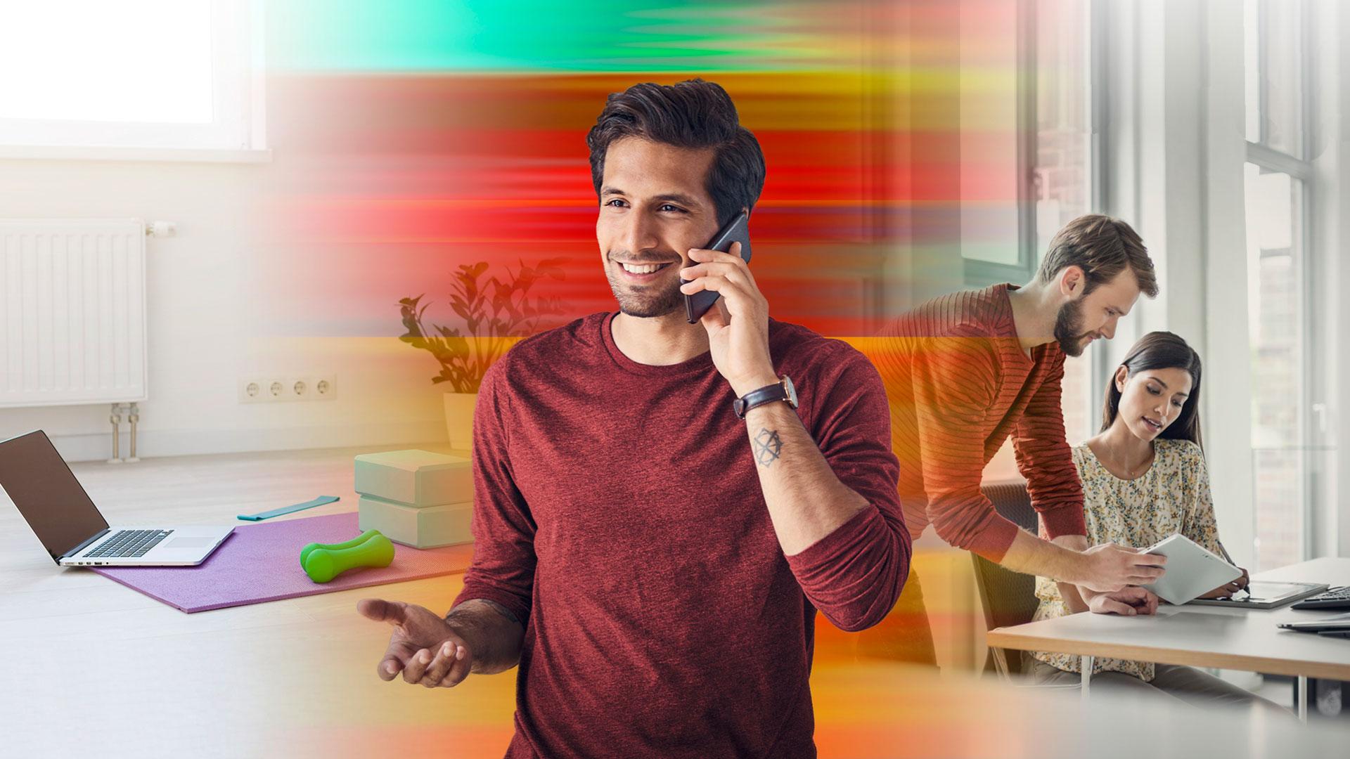 Ein Mann telefoniert