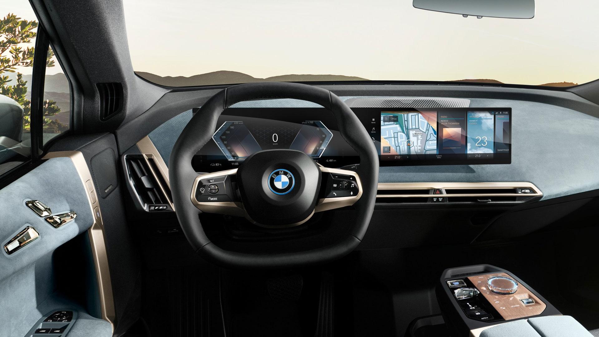 Der Innenraum des neuen Elektro-SUV BMW iX