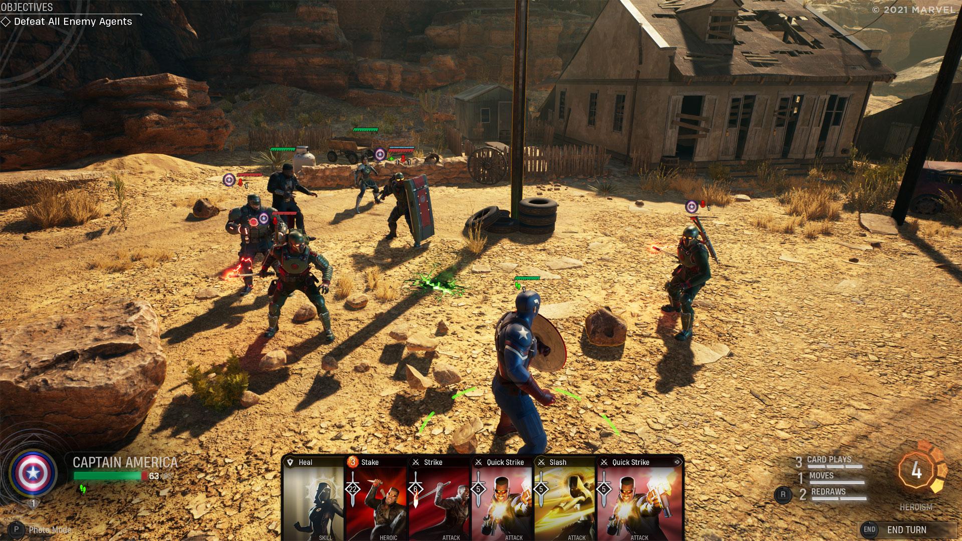 Ein Kampf im Spiel Marvel's Midnight Suns