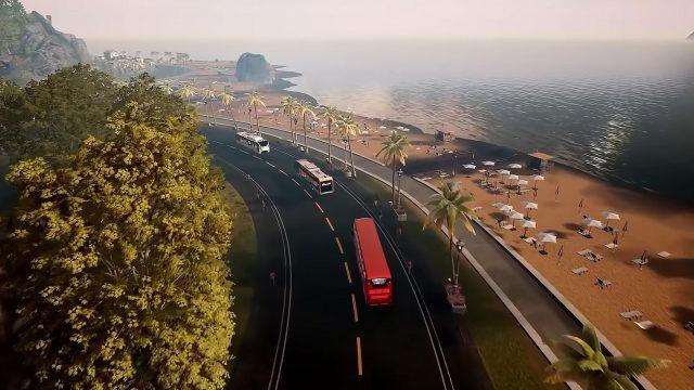 Busse auf einer Fernstraße in Bus Simulator 21