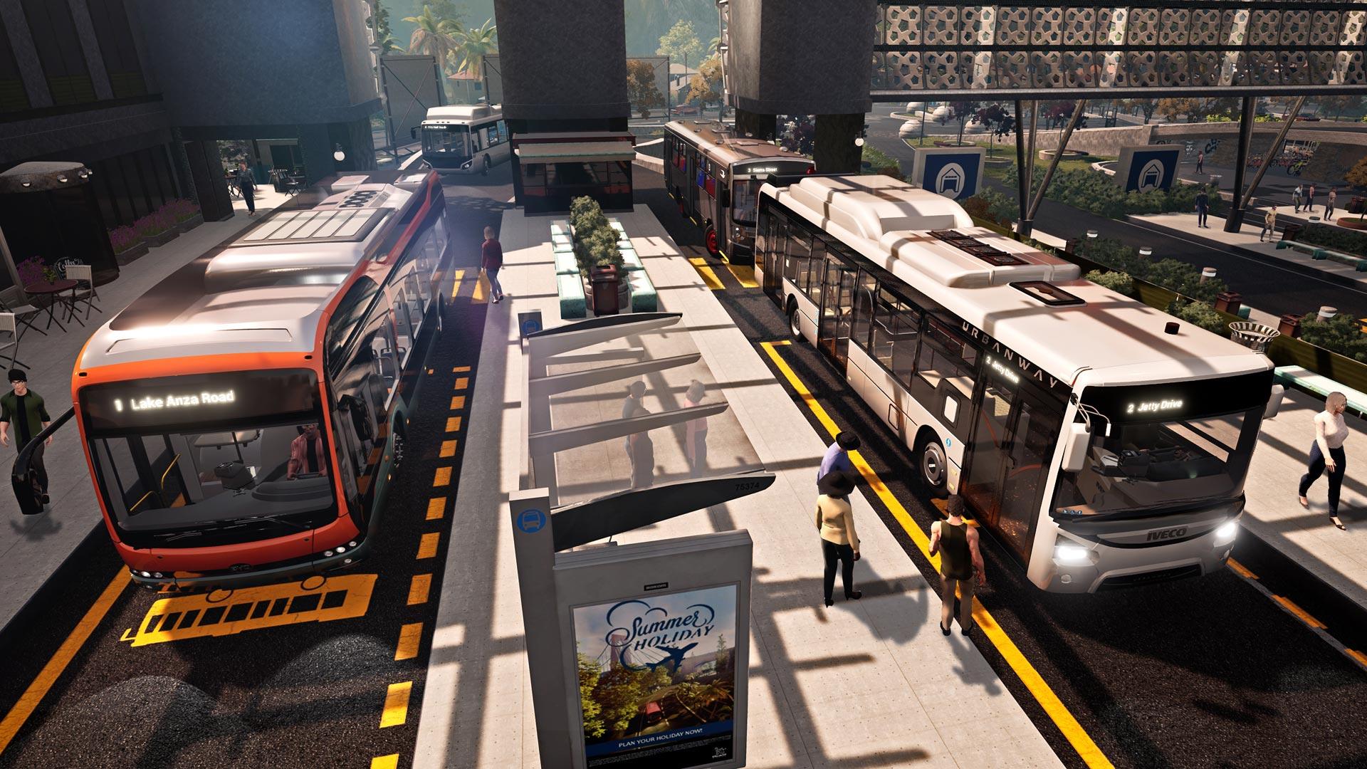 Eine Bushaltestelle im Spiel Bus Simulator 21