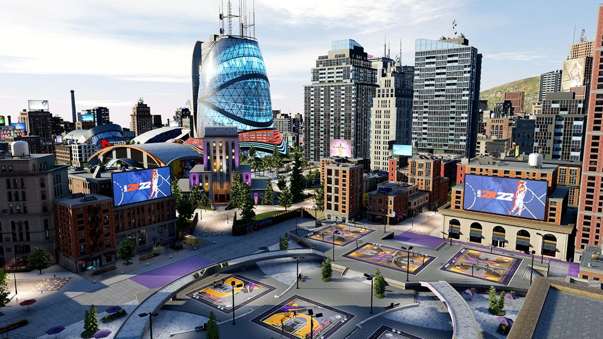 Die Stadt im Spiel NBA 2K22